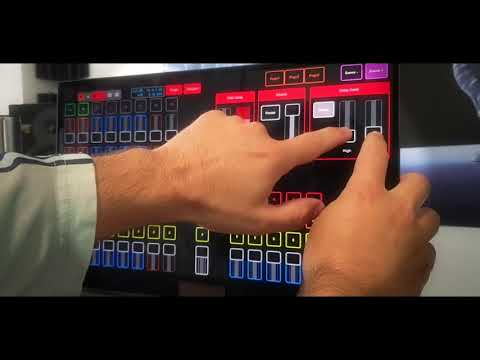 Live touch control with Chameleon and Bitwig (dub jamming)